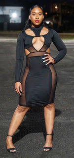 Riri Black beat dress