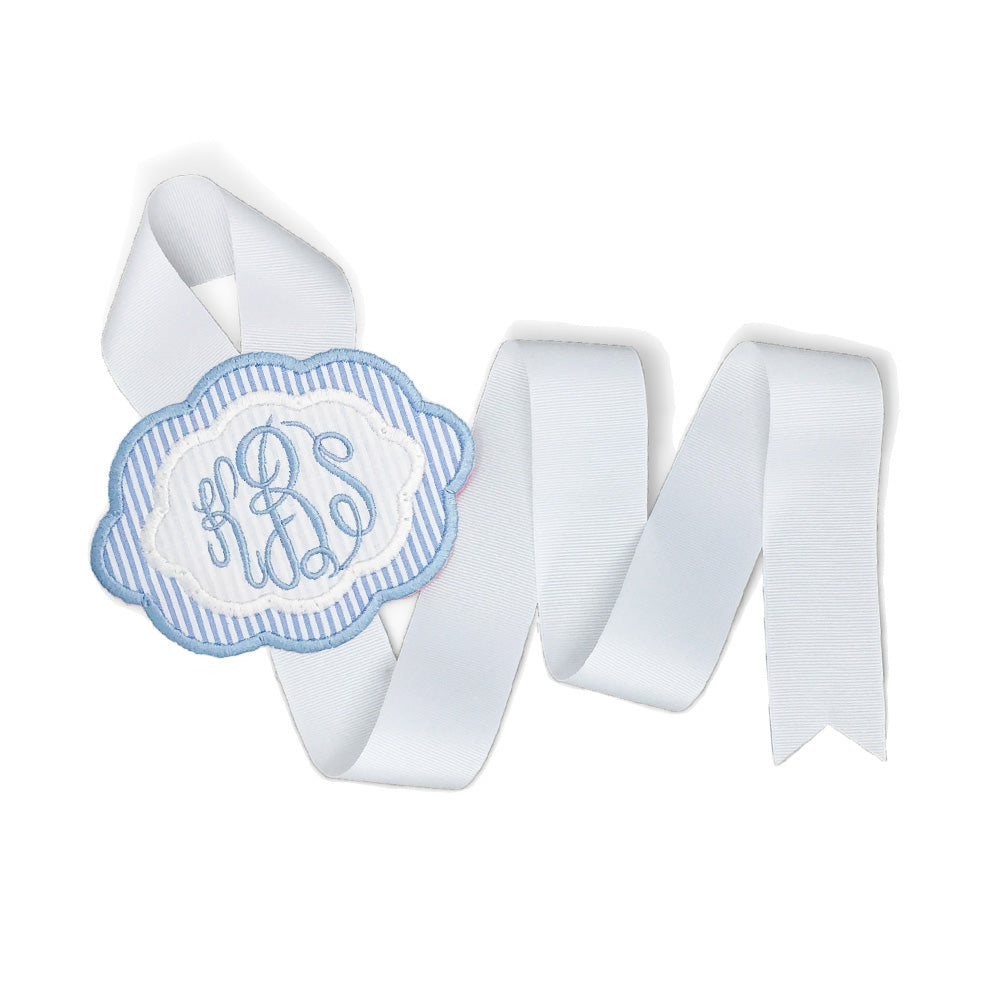 Blue & White Bow Holder (Small)