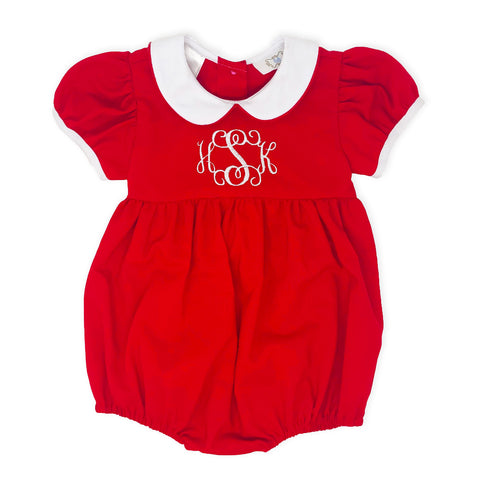 Red Girl's Bubble-Miss Monogram