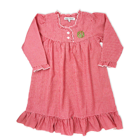 PRE-ORDER: Red Gingham Nightgown