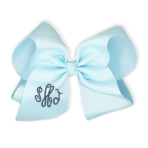 Light Blue Bow-Miss Monogram