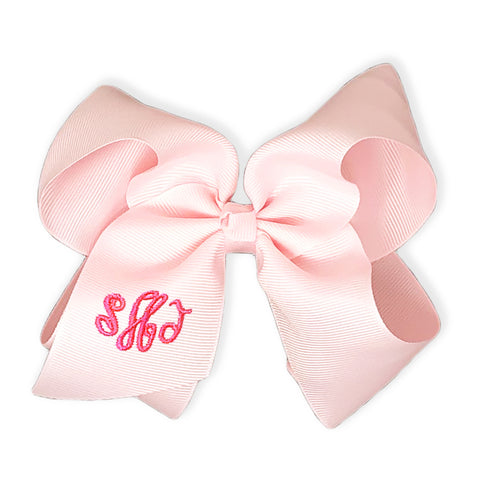 Light Pink Bow-Miss Monogram