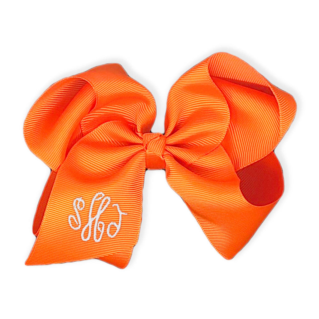 Orange Bow-Miss Monogram