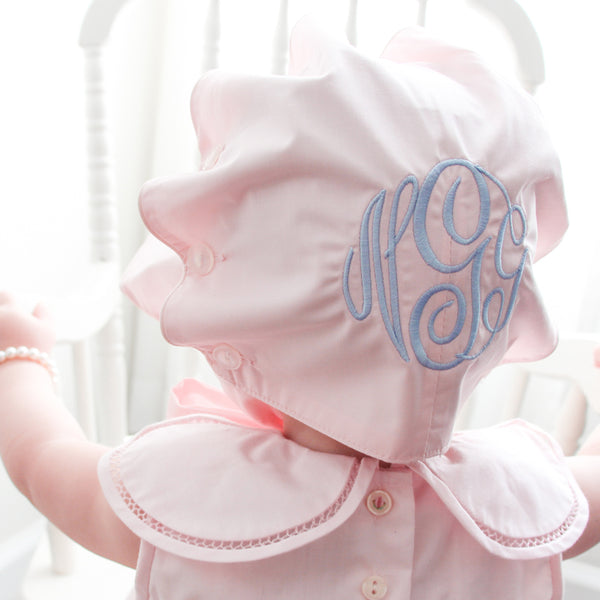 Pink Bonnet-Miss Monogram