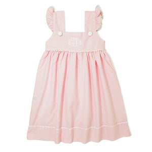 Pink Ruffle Dress-Miss Monogram