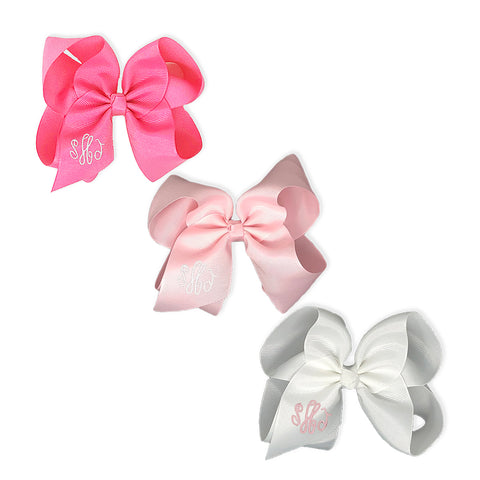 Pretty in Pink Bow Set-Miss Monogram