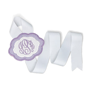 Purple & White Bow Holder (Small)