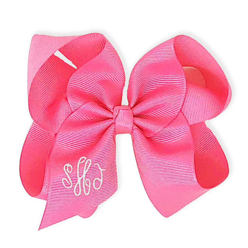 Sorbet Pink Bow-Miss Monogram