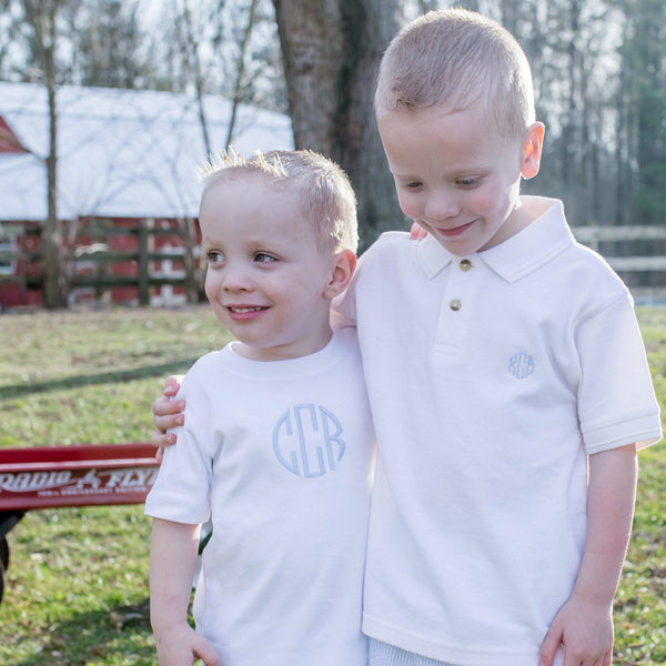 Monogrammed Tee for Boys-Miss Monogram