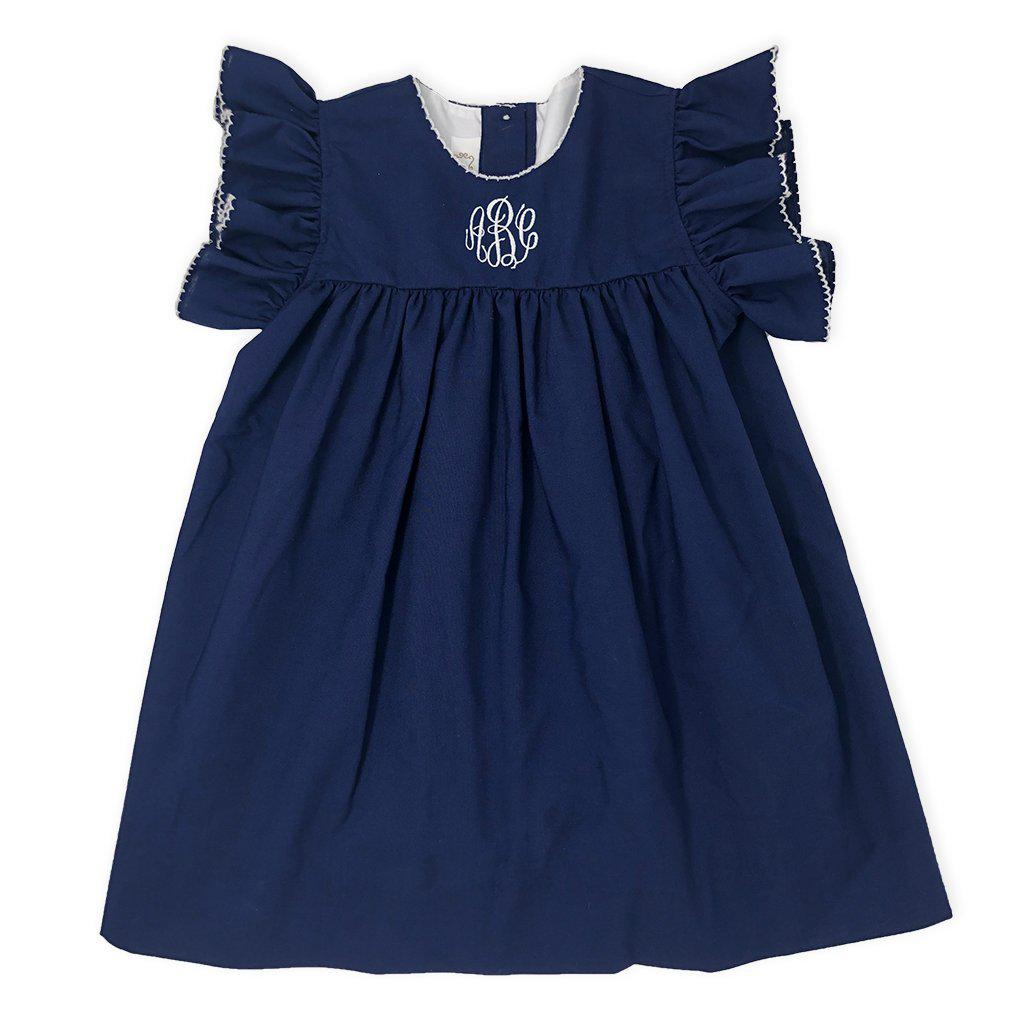 Navy Blue Dress-Miss Monogram