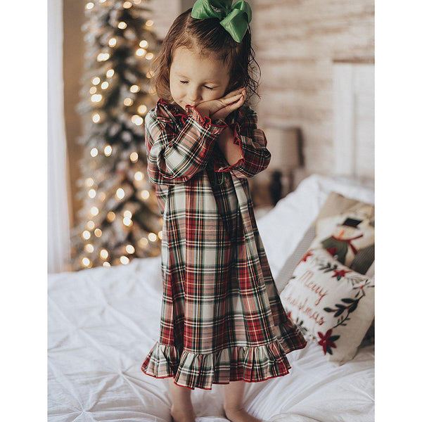 Red Plaid Nightgown-Miss Monogram