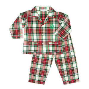 Red Plaid Pajamas-Miss Monogram