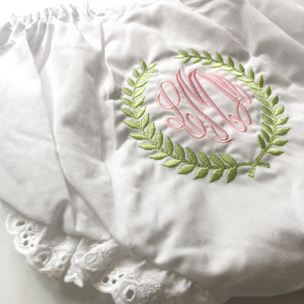 Sunday Best Bloomer Set-Miss Monogram