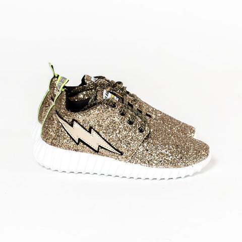 SCARPA RUNNING PLUS GLITTER GOLD - Leo Studio Design