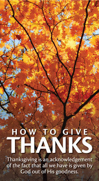 How to Give Thanks