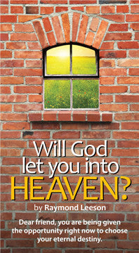 Will God let You into Heaven?