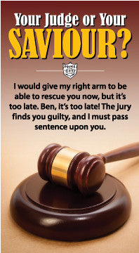 Your Judge or Your Saviour?