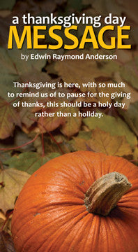 A Thanksgiving Day Message