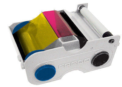Fargo YMCKOK Color + Black Ribbon for C30e C30 & DTC300 Double-Sided Printers - 44210