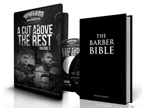 A CUT ABOVE THE REST  VOL - 3 + The Barber Bible Combo