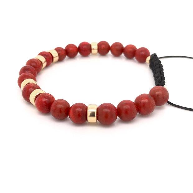 The King's Bracelet • Red Sponge Coral