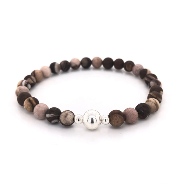 Australian Jasper Gemstone bracelet for men on stretch cord