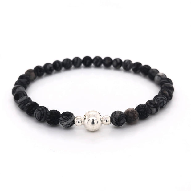 The Adam Bracelet • Grey Jasper