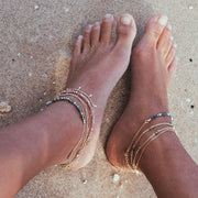 Khaleesi anklet. 14k gold filled. Freshwater seed pearl. Wire wrap. Non tarnish. Water safe.