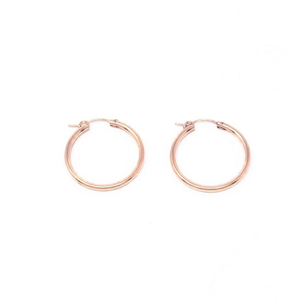 Gracie hoops earrings. Sterling silver. Non tarnish. Water safe.