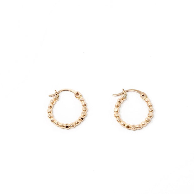 Katie hoop earrings. 14k gold filled. Bead. Non tarnish. Water safe.