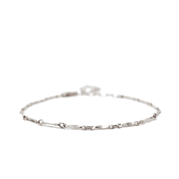 Lulu bracelet. Sterling silver. Non tarnish. Water safe.