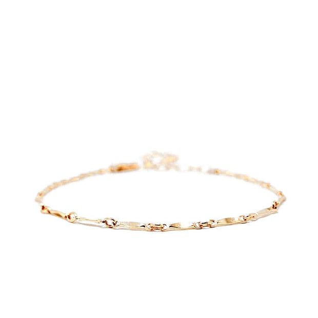 Lulu bracelet. 14k gold filled. Non tarnish. Water safe.