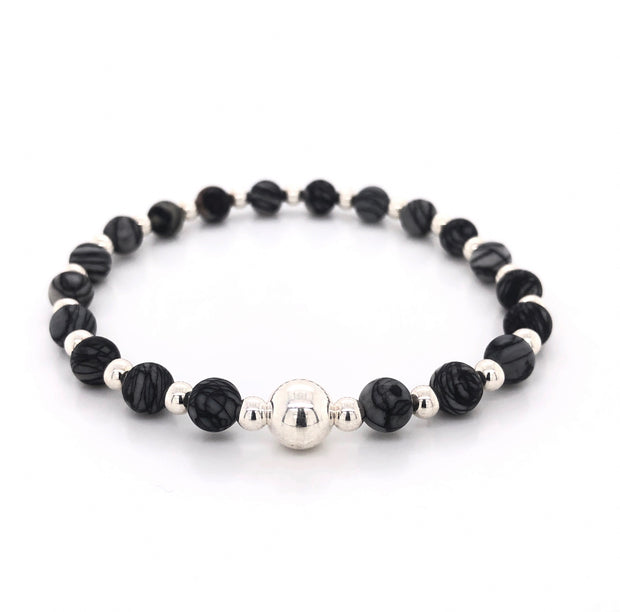 The Tommy Bracelet • Grey Jasper