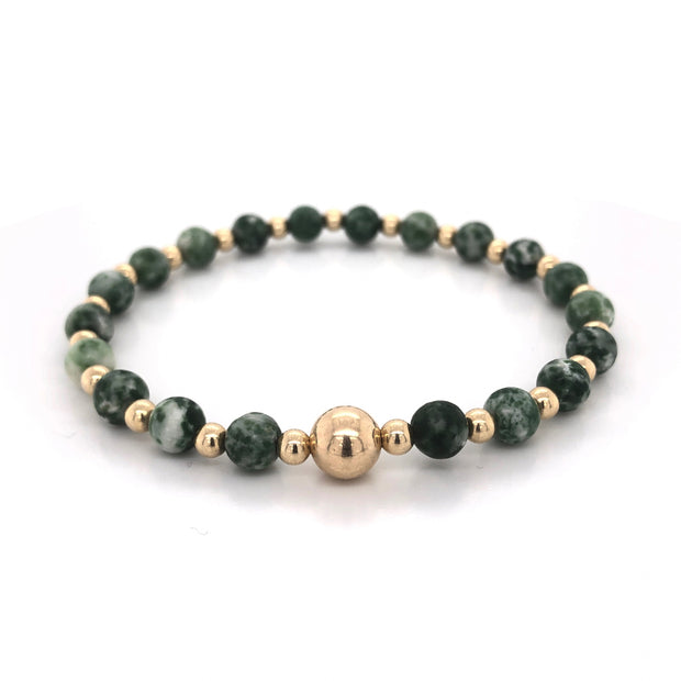 THE TOMMY BRACELET • GREEN SPOT JASPER