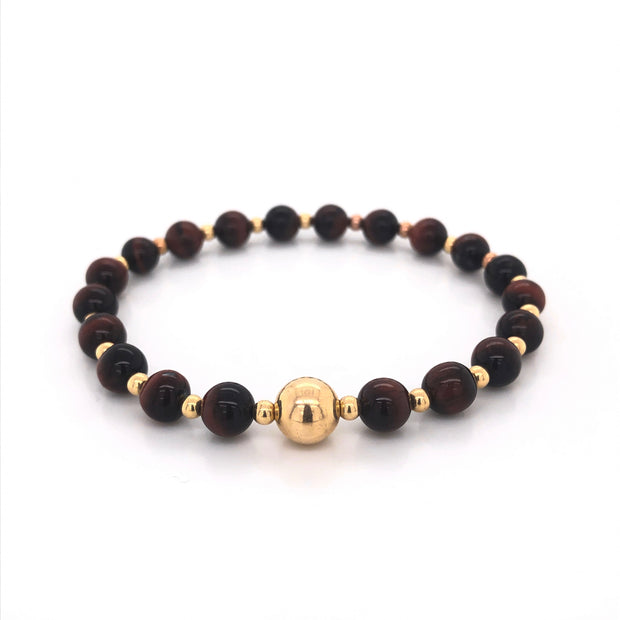 THE TOMMY BRACELET • RED TIGER'S EYE