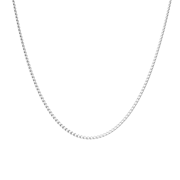 Cammers Chain. Sterling Silver Curb Chain. Non-Tarnish and Water Safe.