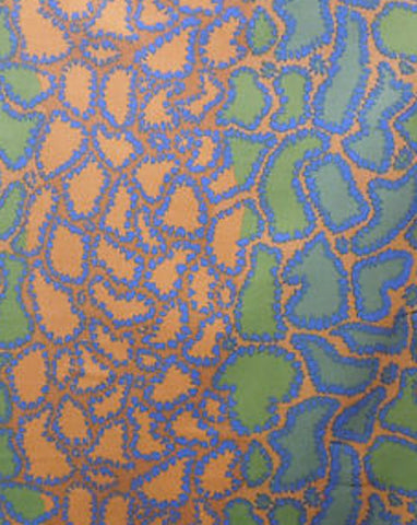"Brandon Mably BM16 Python Brown RARE retired Kaffe Fassett Collective Designer Quilting 18"" BTHY Rowan Westminster Half Yard Quilt Fabric HY"