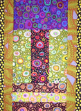 "NATIVE 34""x48"" Kaffe Fassett Amy Butler FQ Fat Quarter Friendly Patchwork Easy Fast Quilt Top Kit In a Day w binding Quilting Fabric"