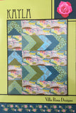 "KAYLA 48""x60"" FQ Fat Quarter Scrap Friendly Beginner Patchwork Quilt Quilting Lap Crib Throw size Pattern Villa Rosa Pat Fryer FQ"