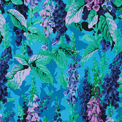 "Philip Jacobs PWPJ010 Foxgloves Spring Kaffe Fassett Collective Designer Quilting 18"" BTHY Rowan Westminster Half Yard 18"" Quilt Fabric"