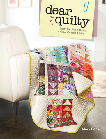 Dear Quilty 12 Quilt Patterns Book Fons & Porter 112 Pages w/ Templates Full Color New Pattern Directions Beginner Resource Tutorials