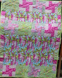 MOJAVE B 42x57 Patchwork Easy Fast Quilt Top Kit In a Day w/ binding Quilting Fabric Kit Kaffe Fassett Philip Jacobs Shot Cotton Woven