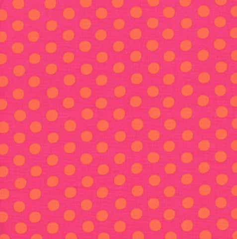 "Kaffe Fassett GP70.FUCHS Fuschia Hot Pink Polka Dot Dots FQ FAT Quarter Rowan Westminster Fasset Collective 18""x22"" Classic Quilt Fabric"