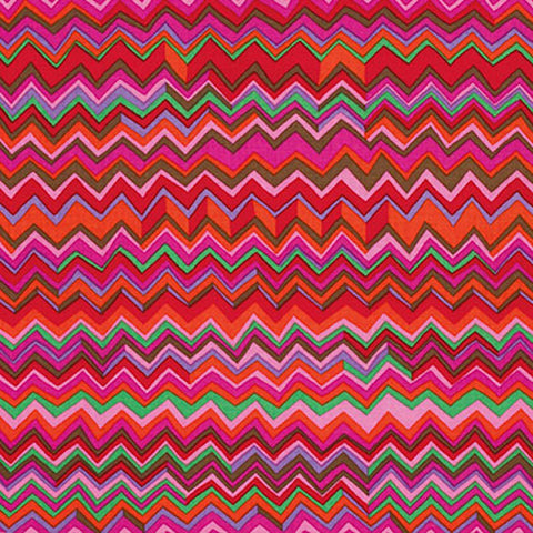 "Brandon Mably PWBM043.WARMX Zig Zag Warm Pinks Kaffe Fassett Collective FQ FAT Quarter Rowan Westminster 18""x22"" Classic Quilt Fabric"