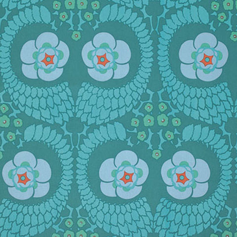 "SAAB015.8OCEA Amy Butler Violette French Twist Ocean HOME Dec Designer Quilting 55"" HY Rowan Westminster Half Yard 18"" Quilt Sewing Fabric"