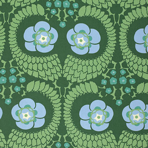 "SAAB015.8PINE Amy Butler Violette French Twist Pine HOME Dec Designer Quilting 55"" HY Rowan Westminster Half Yard 18"" Quilt Sewing Fabric"