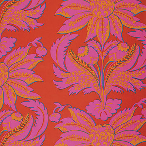 "Brandon Mably BM002 Brandon's Brocade Red HOME Dec Kaffe Fassett KFC Designer Quilting 55"" wide HY Rowan Westminster Half Yard 18"" Fabric"