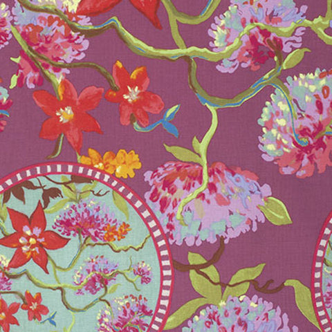 "PWNW064.MORNI Nel Whatmore Orient Morning Time Oriental Free Spirit Sewing Quilting 18"" BTHY Rowan Westminster Half Yard 18"" Quilt Fabric HY"