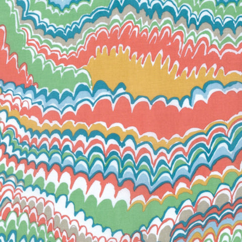 "Kaffe Fassett Fall 2016 NEW PWGP159 End Papers MELON Collective Swirls New BTHY Rowan Westminster Fasset Half Yard 18"" Quilt Fabric"