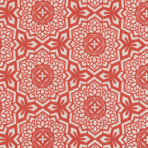 "Joel Dewberry PWJD087 Botanique Mosaic Bloom Sunset Eclectic Geometric Mod Free Spirit Designer Quilting 18"" BTHY Half Yard Quilt Fabric HY"